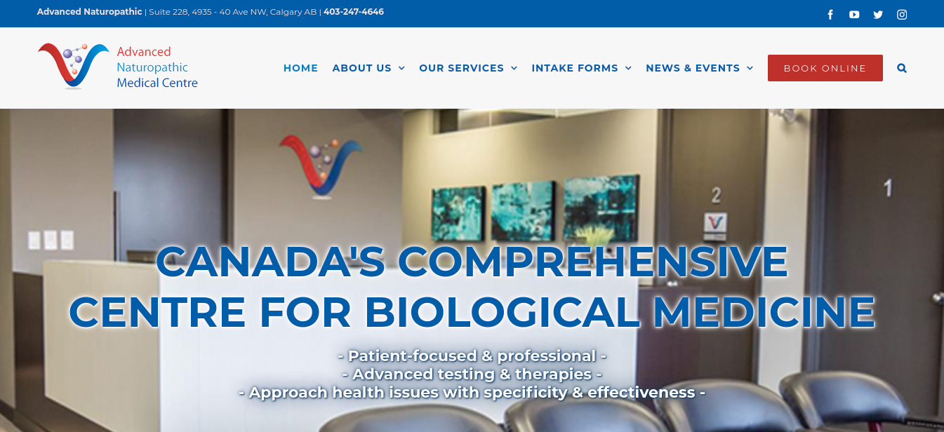 Advanced Naturopathic Medical Centre Website
