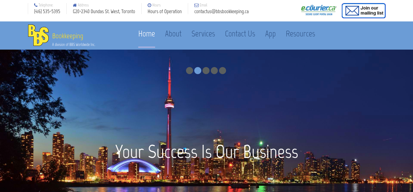 BBS Bookkeeping Website