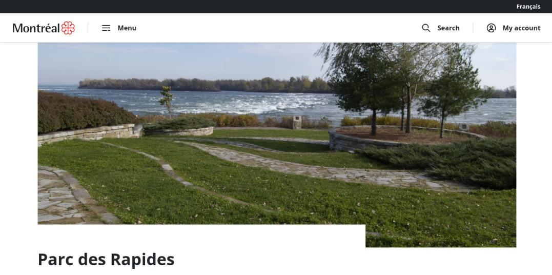 Des Rapides Park Website