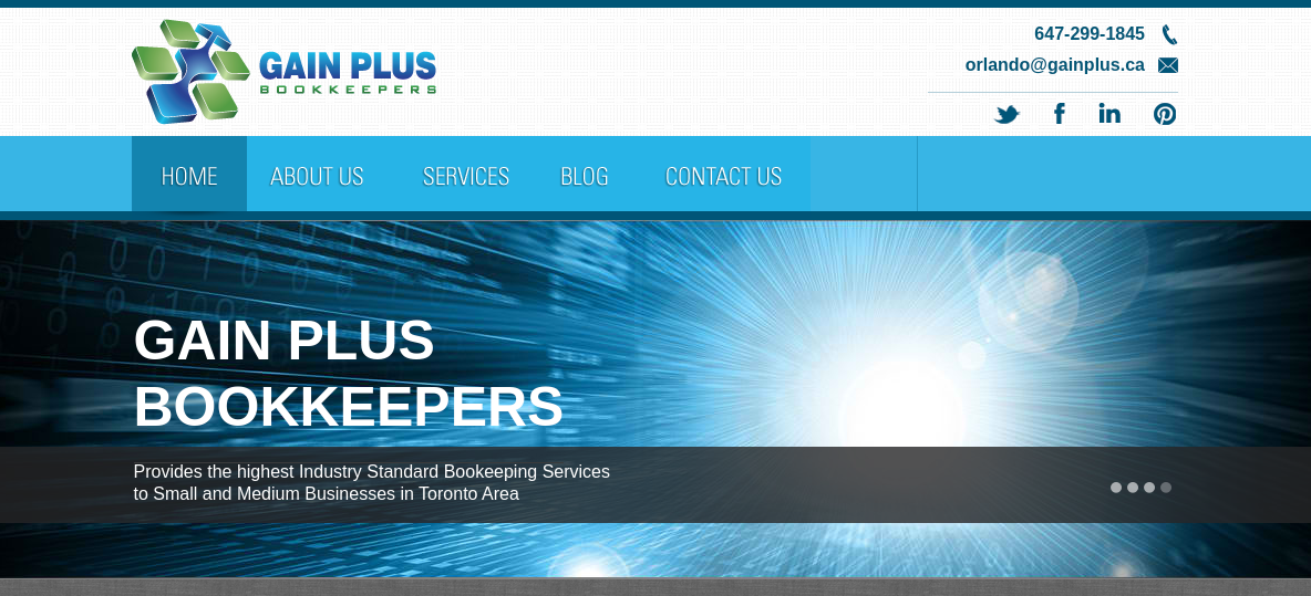 Gain Plus Bookkeepers Website