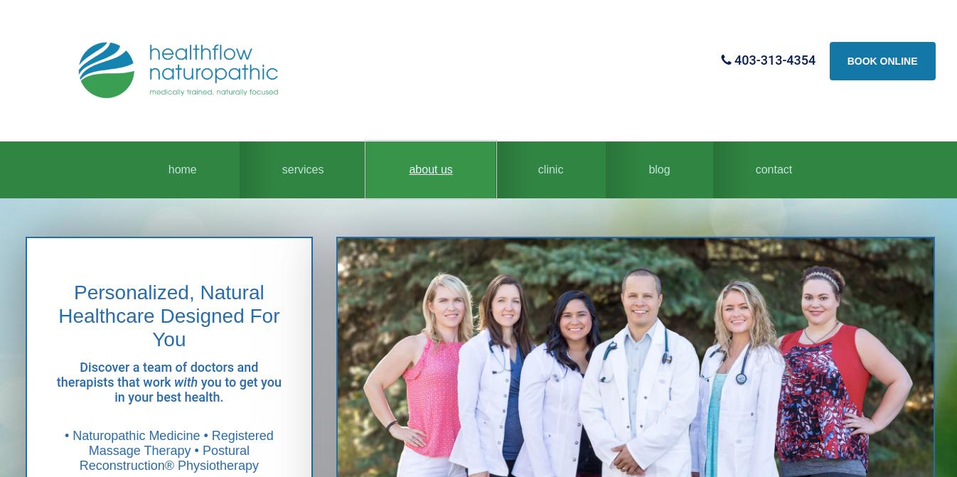 Healthflow Naturopathic Website