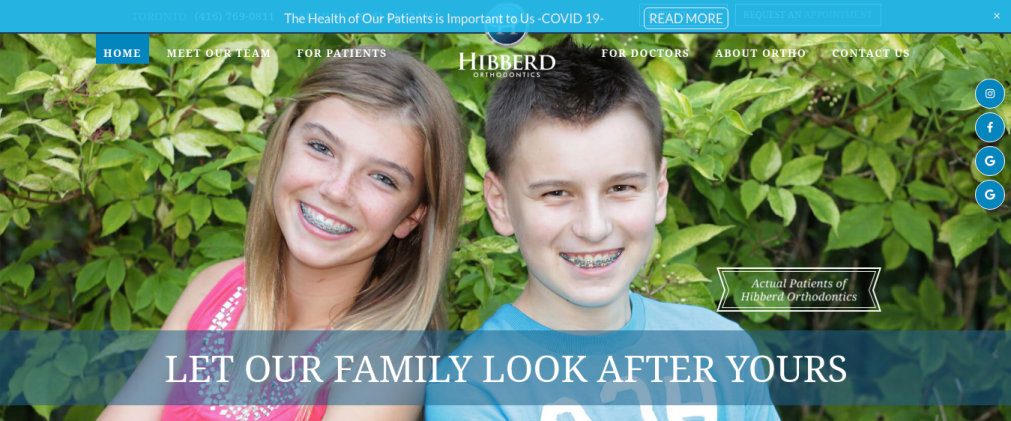 Hibberd Orthodontics Website