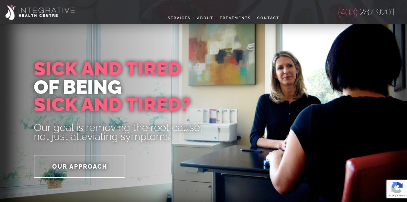 Integrative Health Centre Website