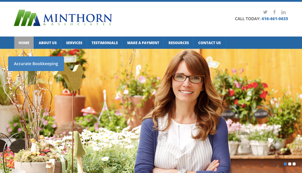 Minthorn & Associates Website