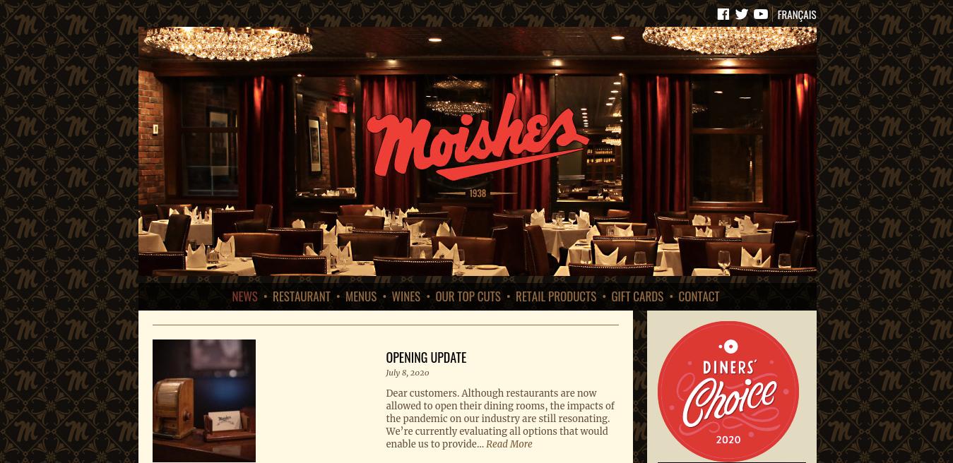 Moishes Website