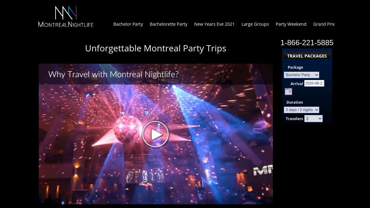 Montreal Nightlife Website