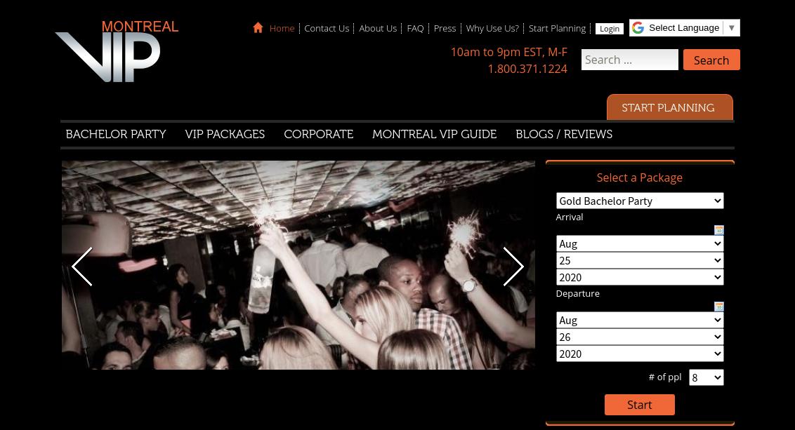 Montreal VIP Website