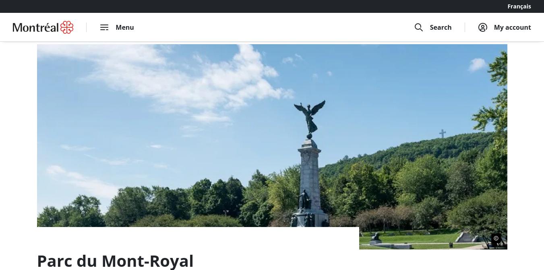 Mount Royal Park Website
