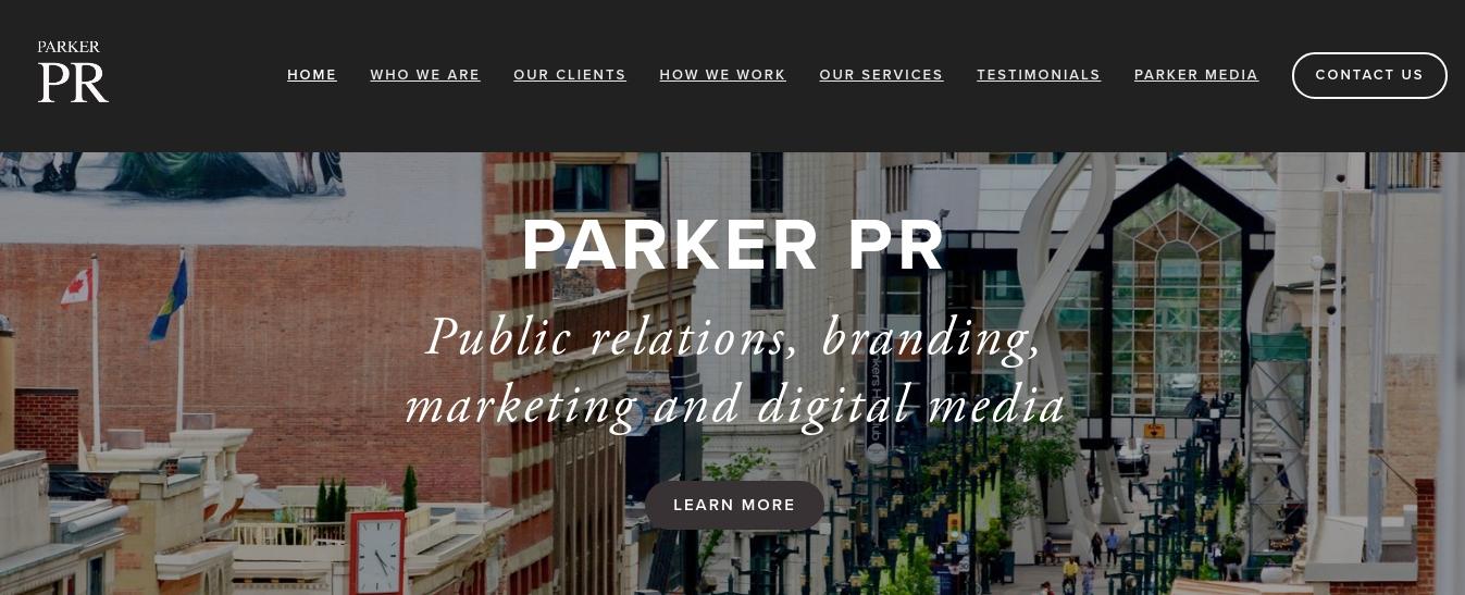 Parker PR Website