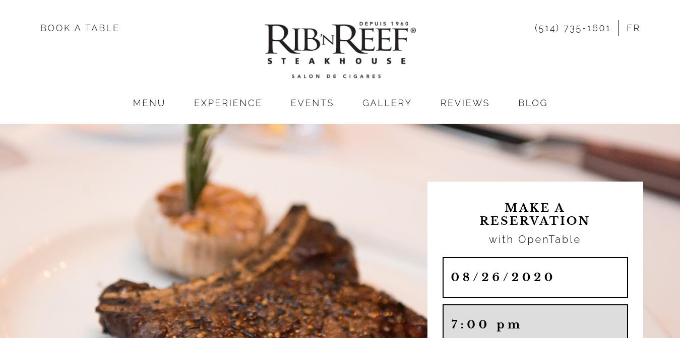 Rib'N Reef Website