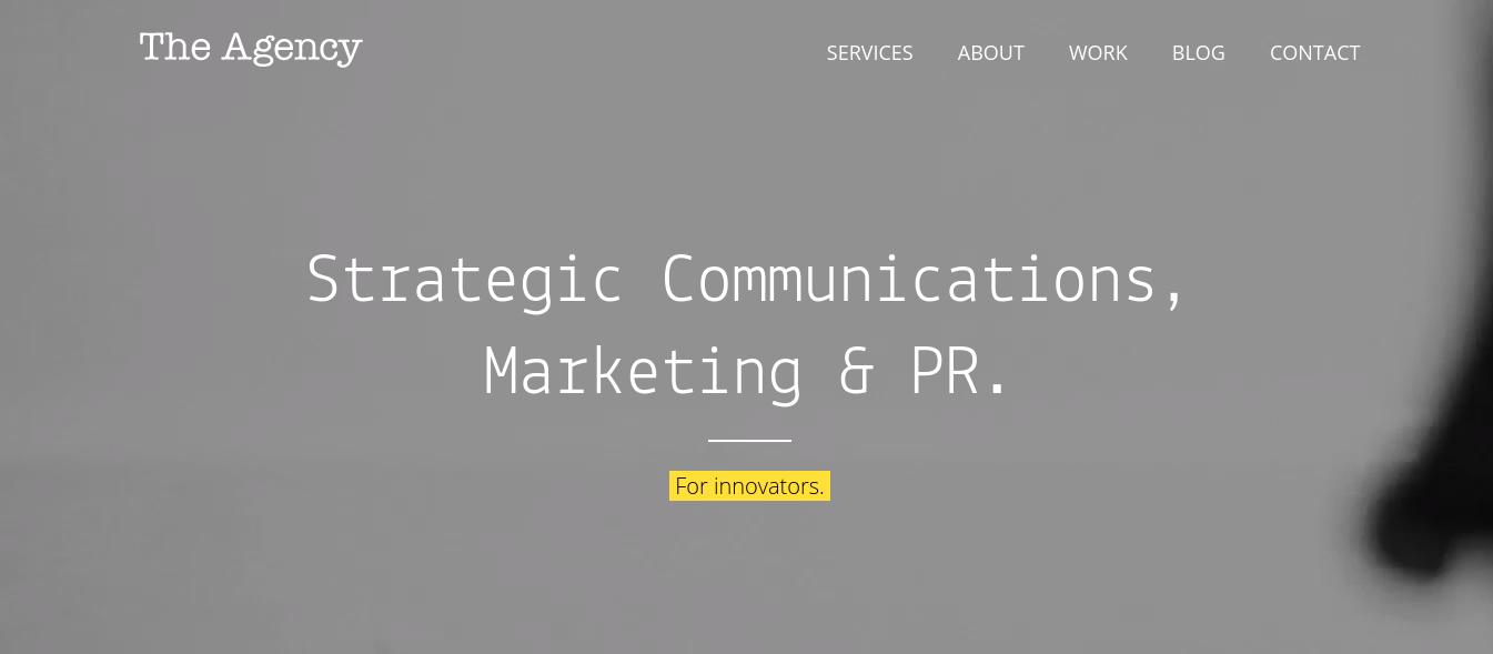 The Agency Inc. Website