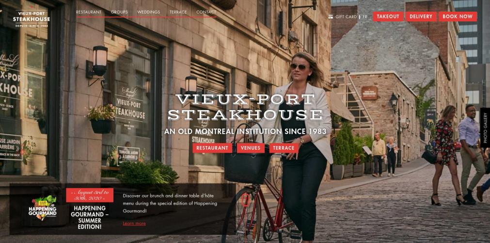 Vieux-Port Steakhouse Website