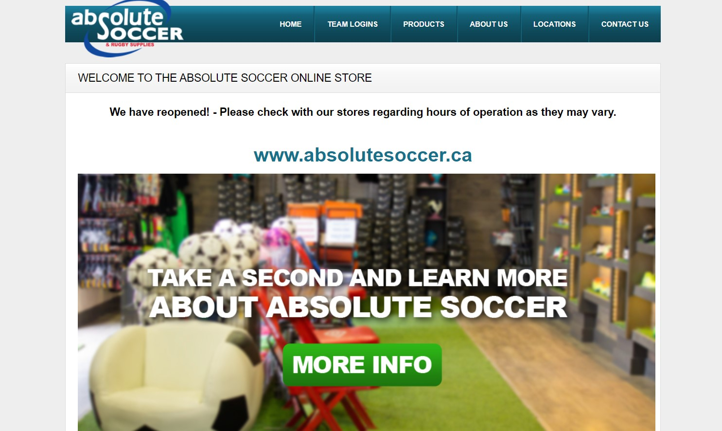 absolute soccer sporting goods store in hamilton