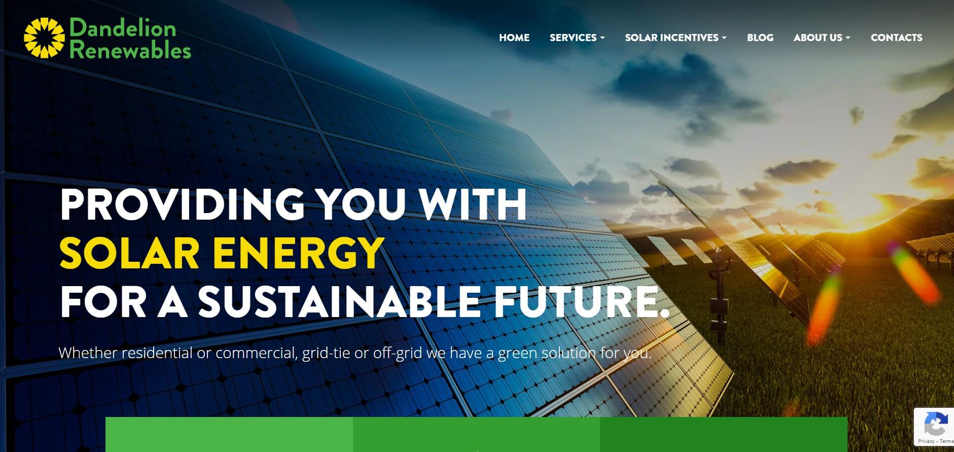 dandelion renewables solar energy contractor in edmonton