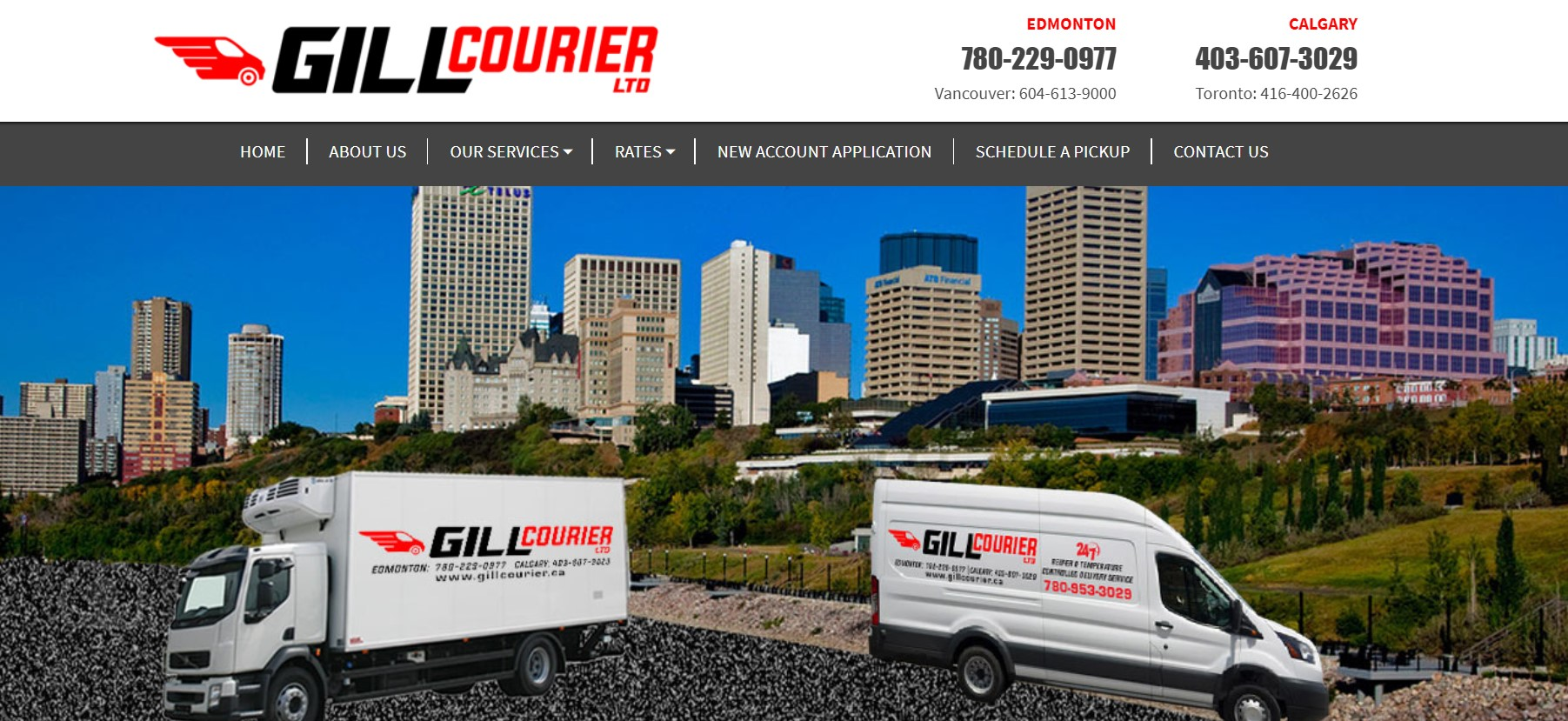 gill courier ltd courier service in edmonton