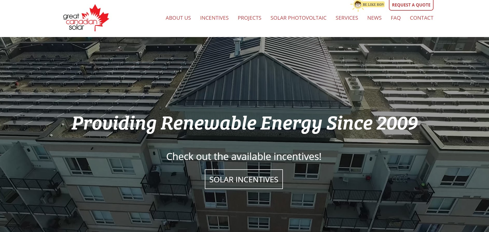 great canadian solar energy contractor in edmonton