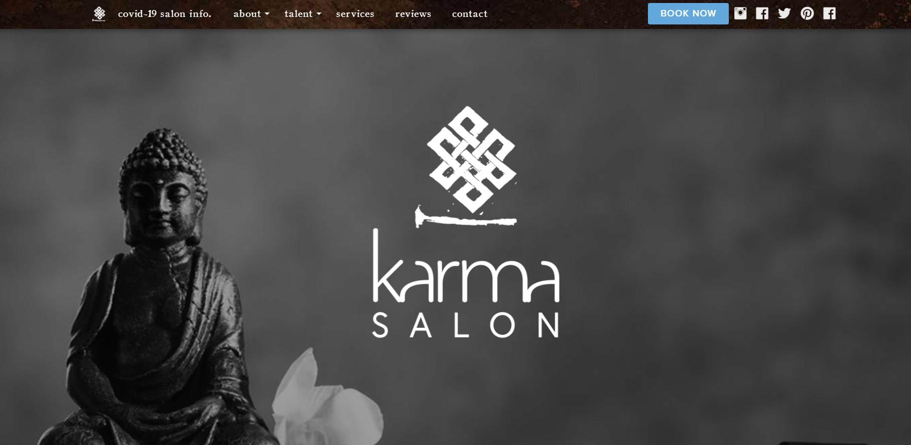 karma salon hairdresser in calgary