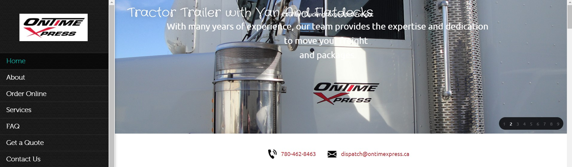 on time xpress courier service in edmonton