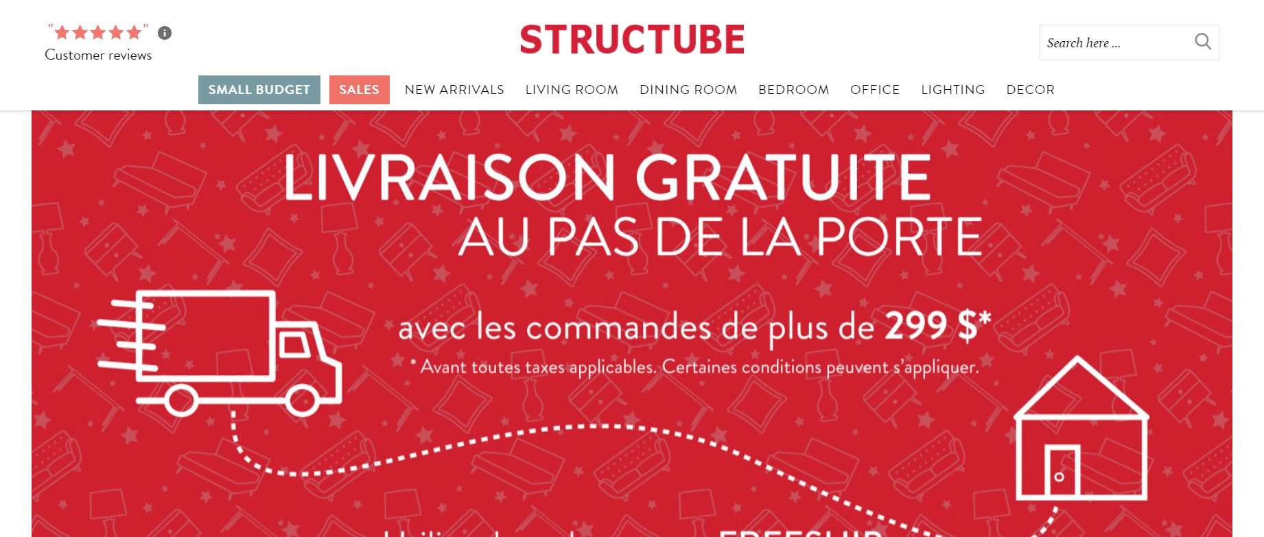structube furniture store in quebec