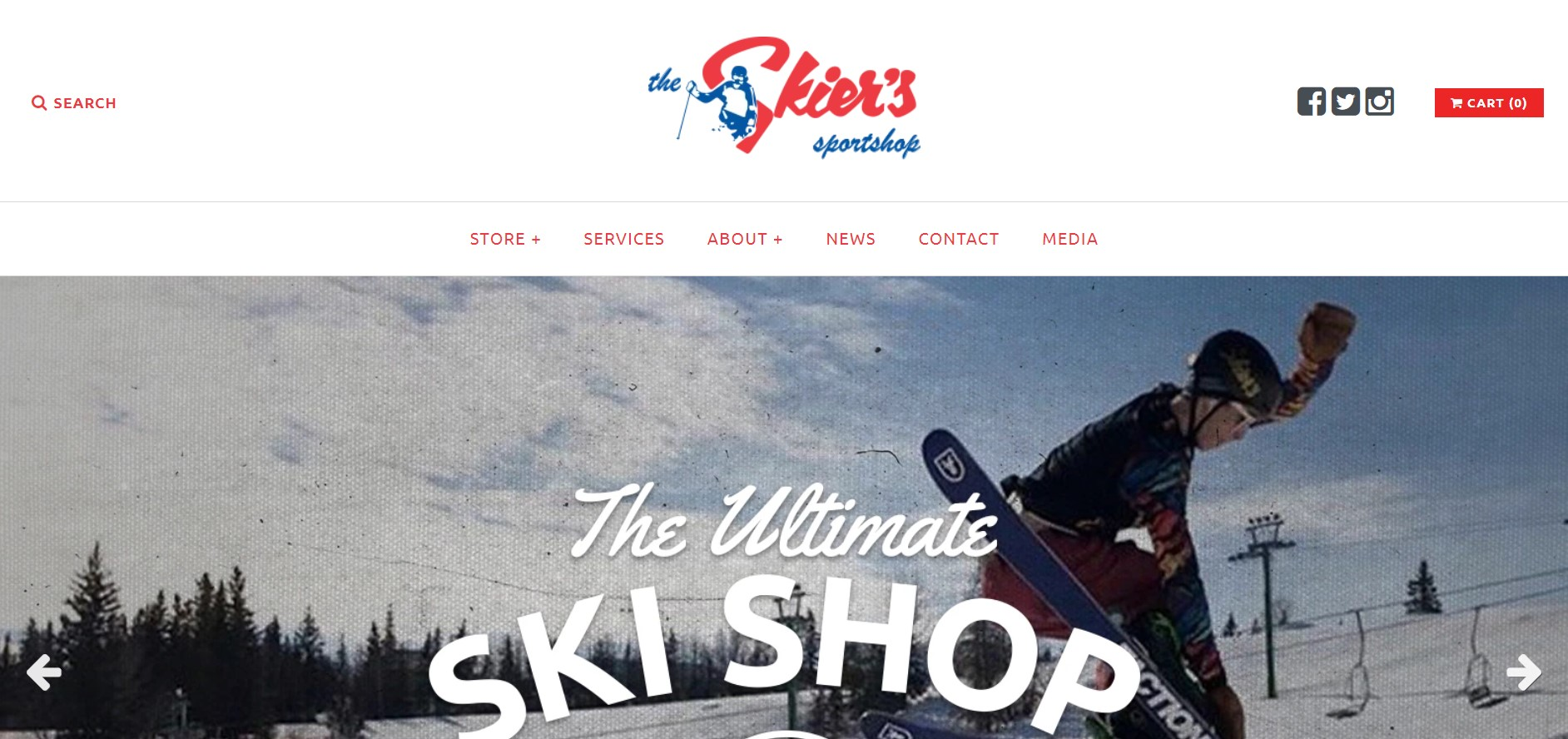 the skier's sportshop sporting goods store in edmonton
