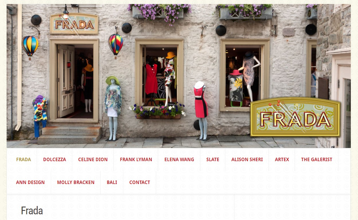 boutique frada women's clothing store in quebec