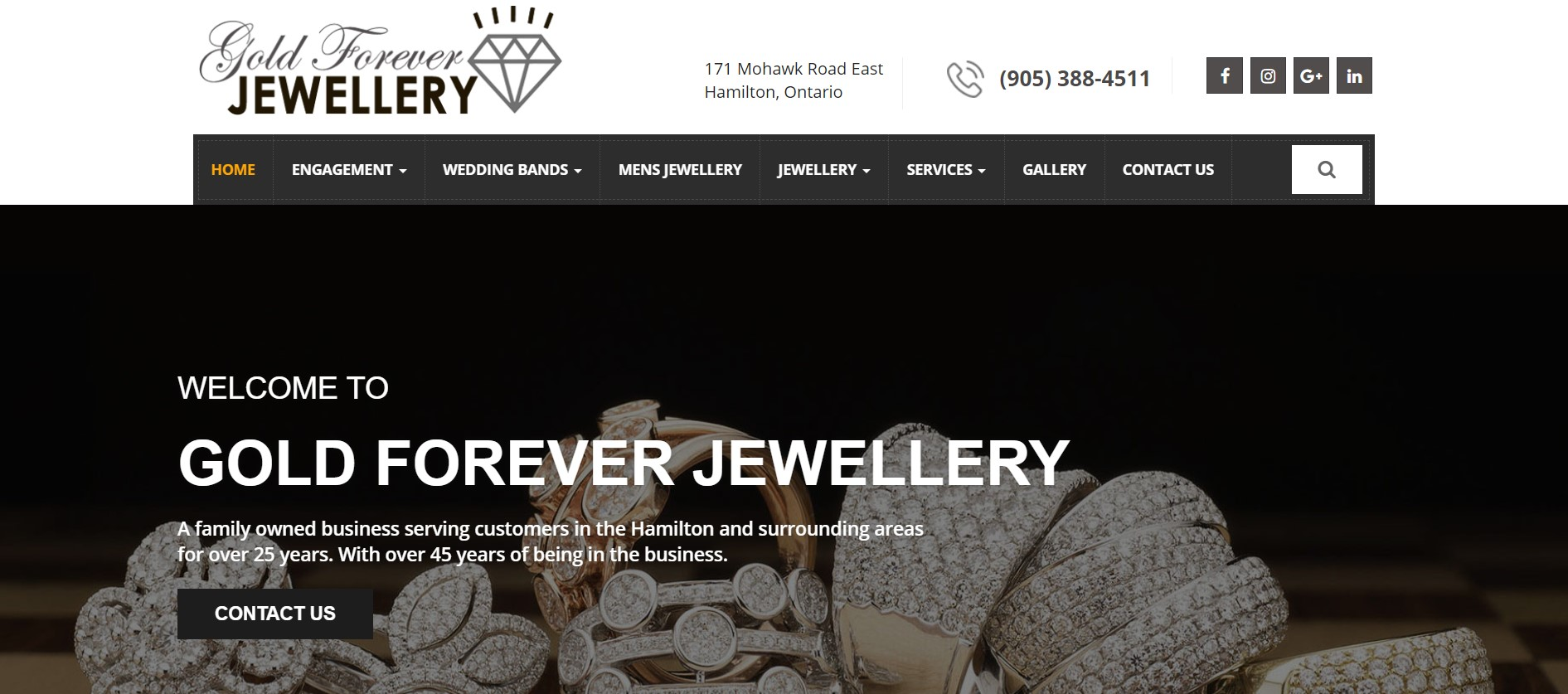 gold forever jewelry store in hamilton