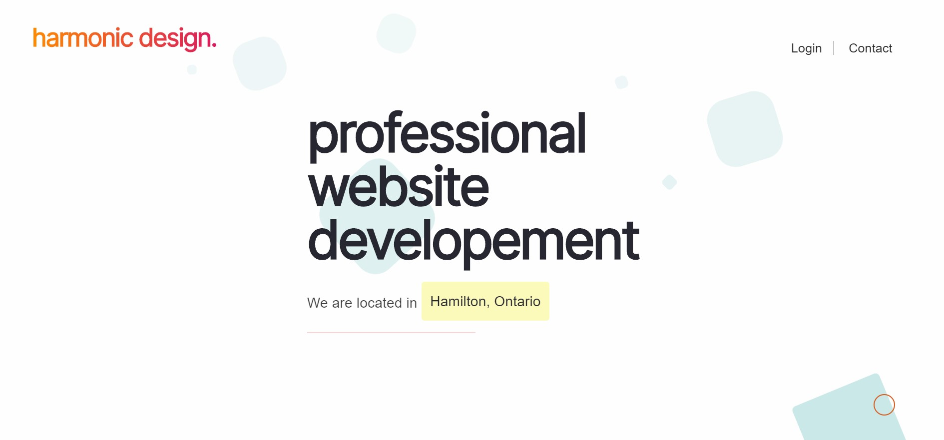 harmonic design web developer in hamilton
