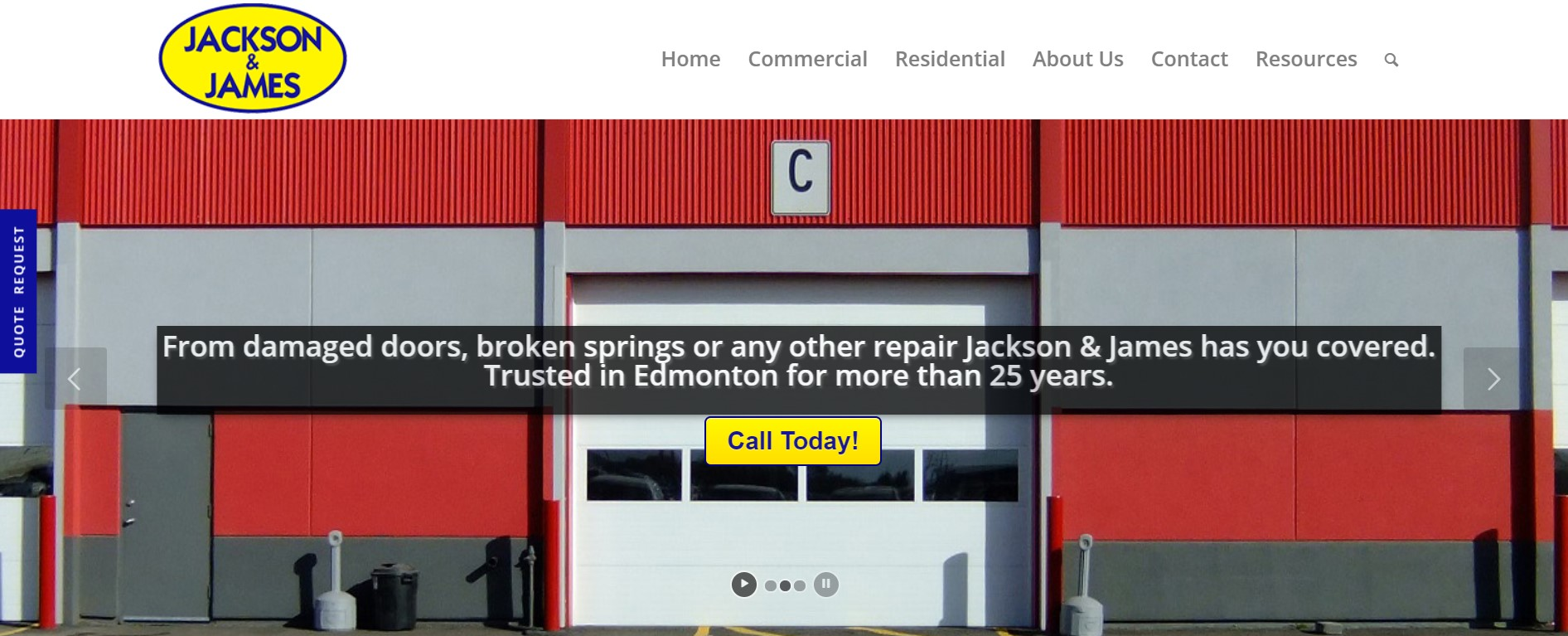 jackson & james garage door repair in edmonton