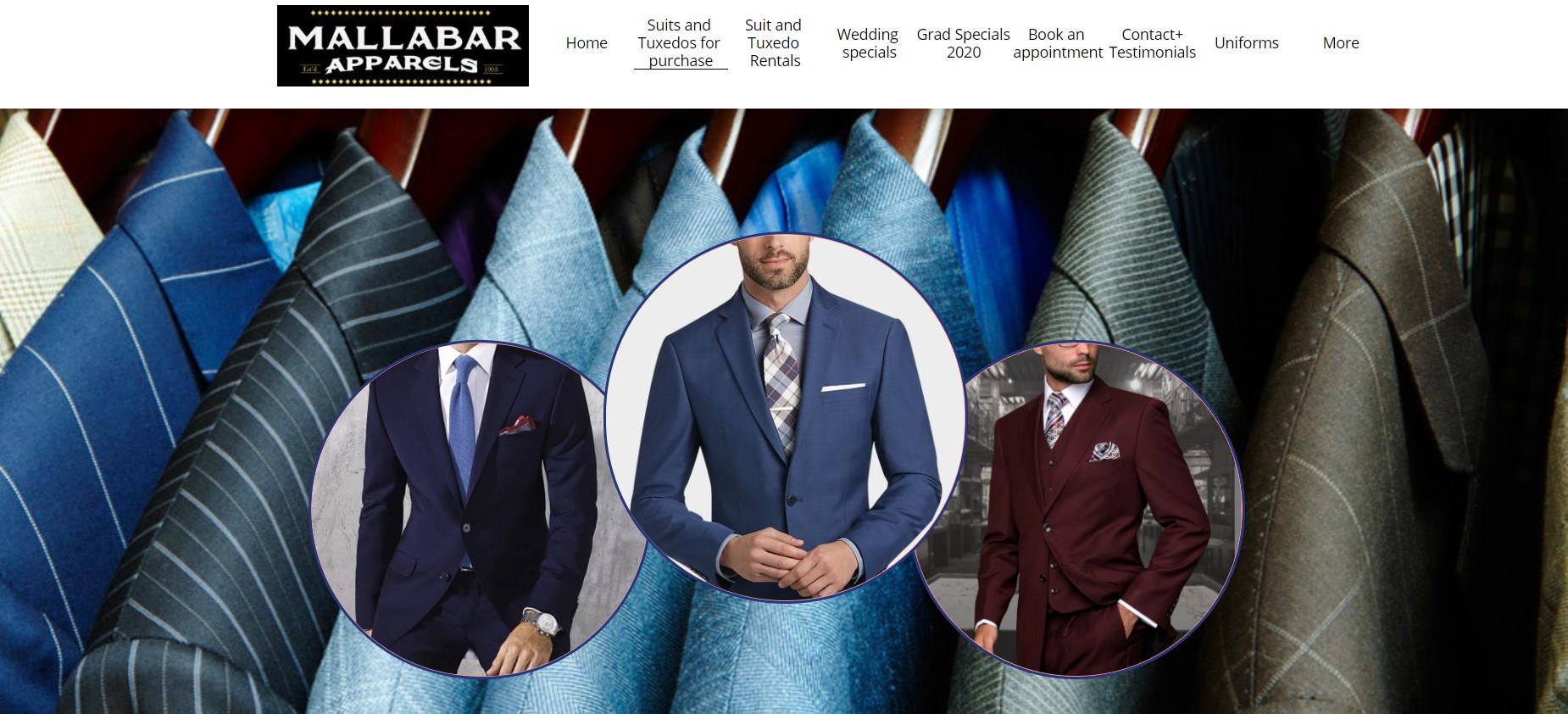 mallabar apparels formal wear store in winnipeg