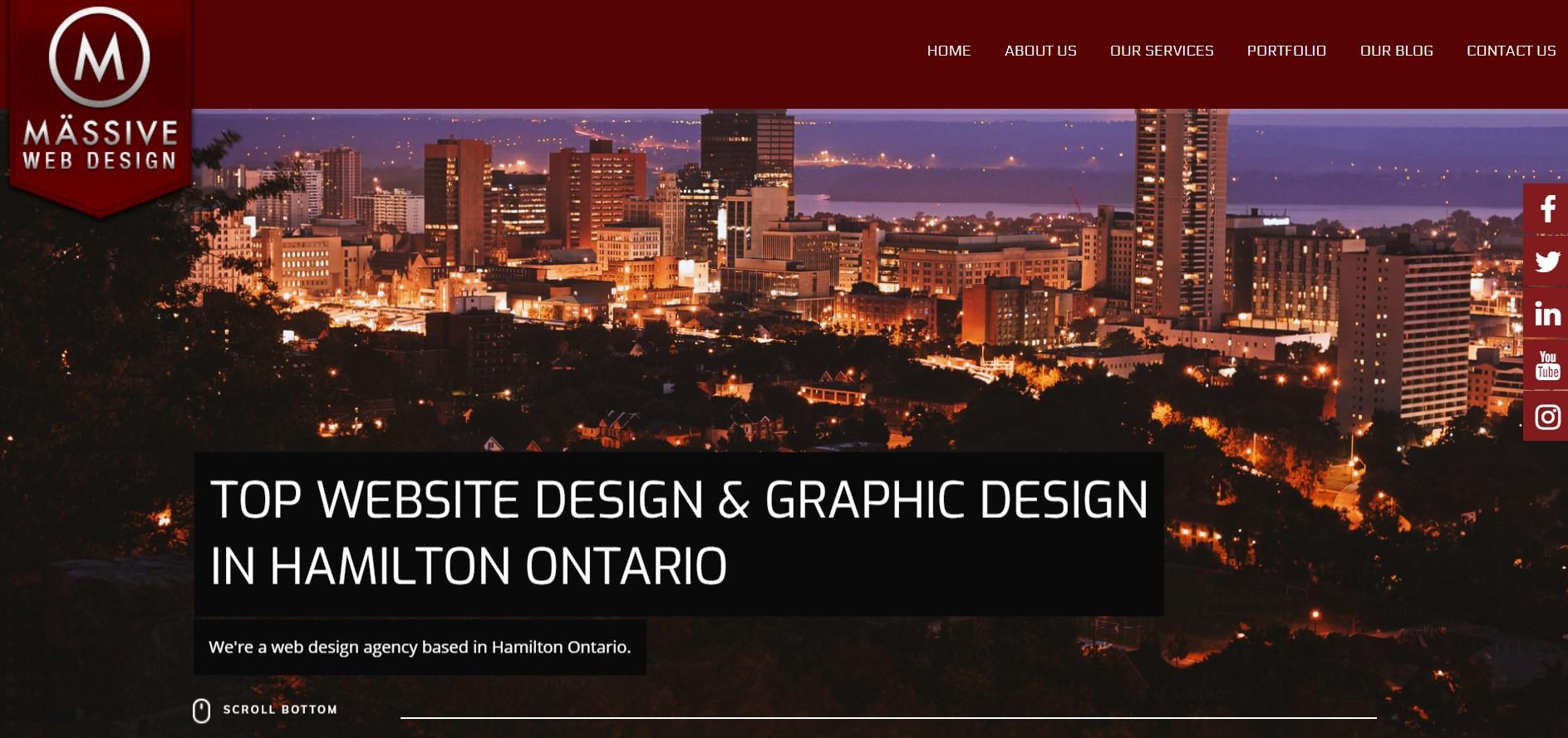 massive web design web developer in hamilton