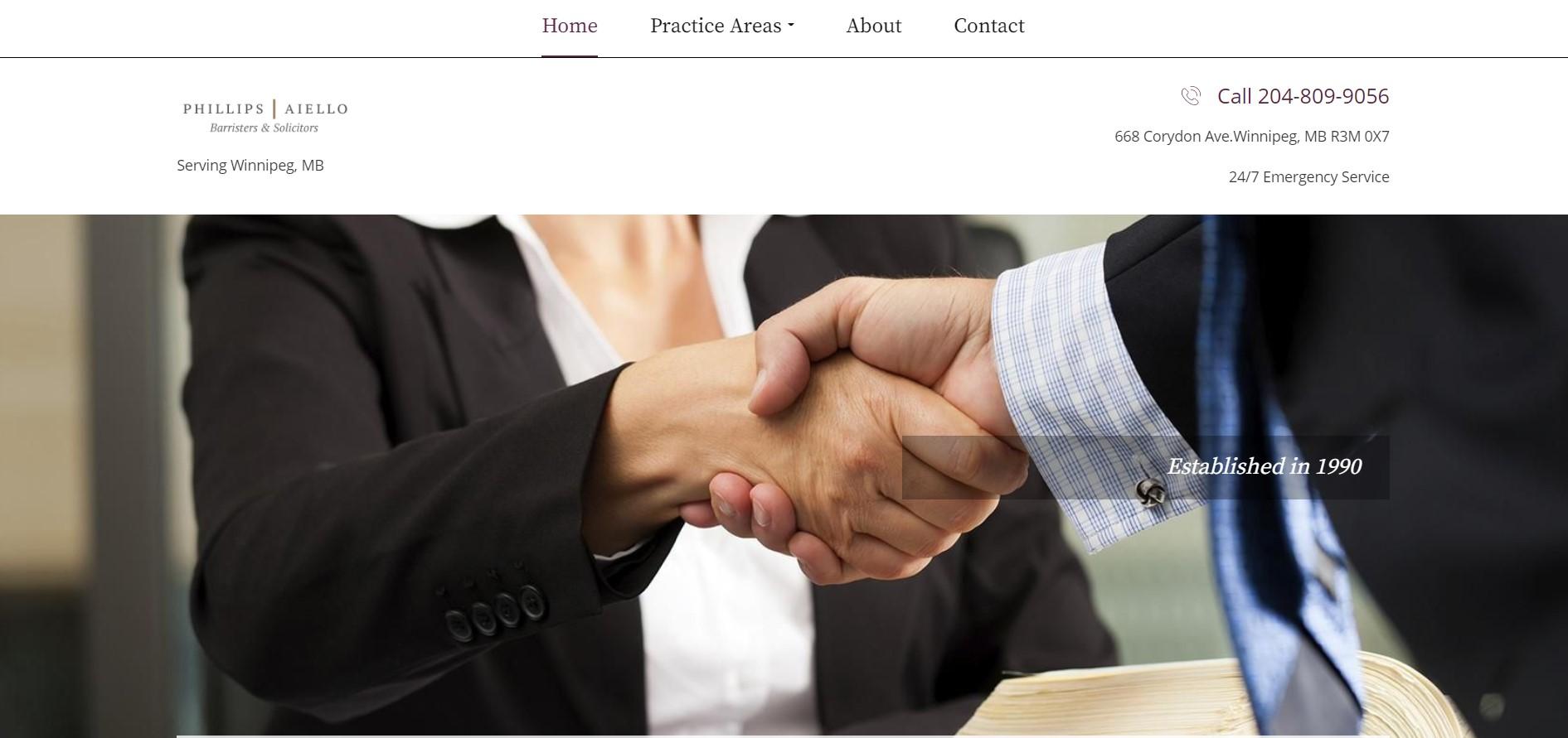 phillips aiello personal injury attorney in winnipeg