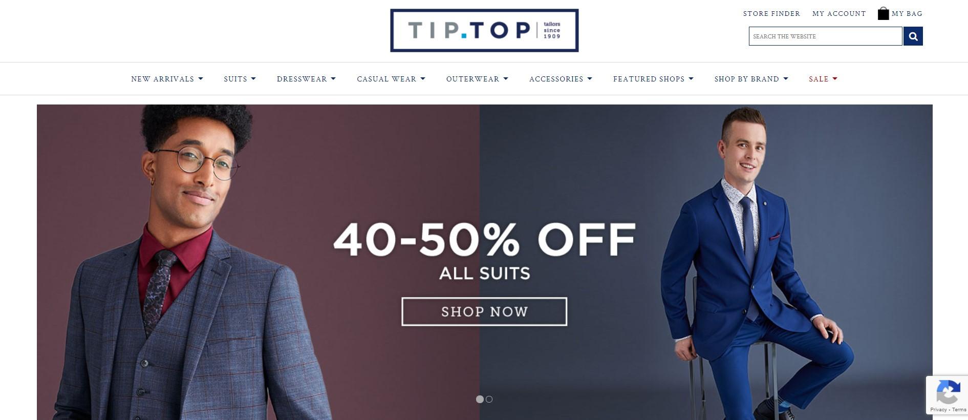 tip top formal wear store in winnipeg
