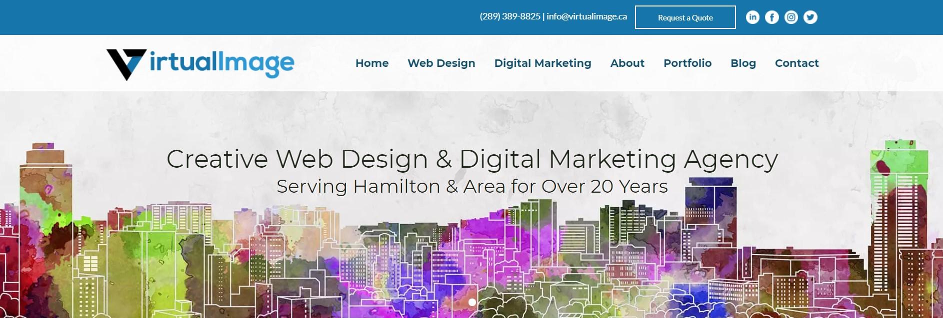 virtual image web developer in hamilton