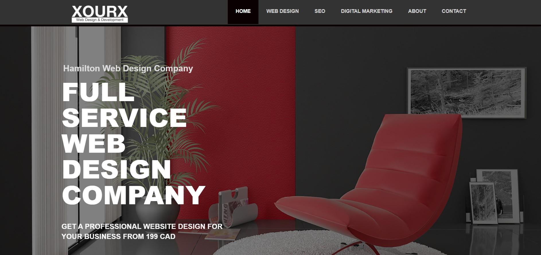 xourx web design web developer in hamilton