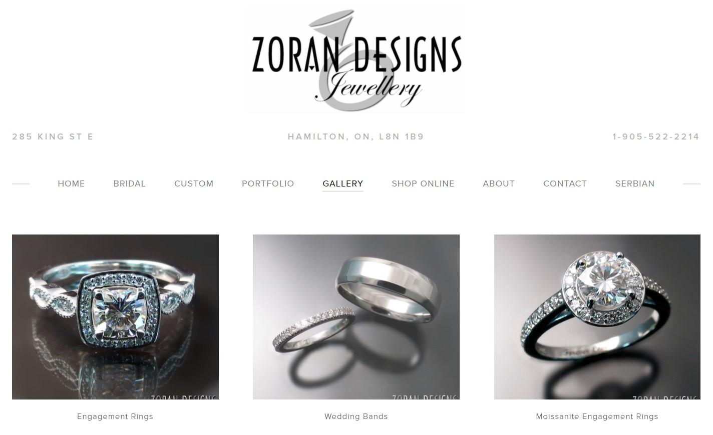 zoran designs jewelry store in hamilton