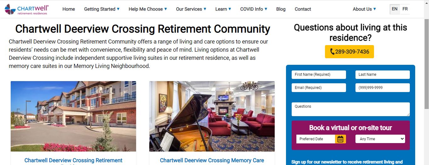 Chartwell Deerview Crossing Retirement Residence