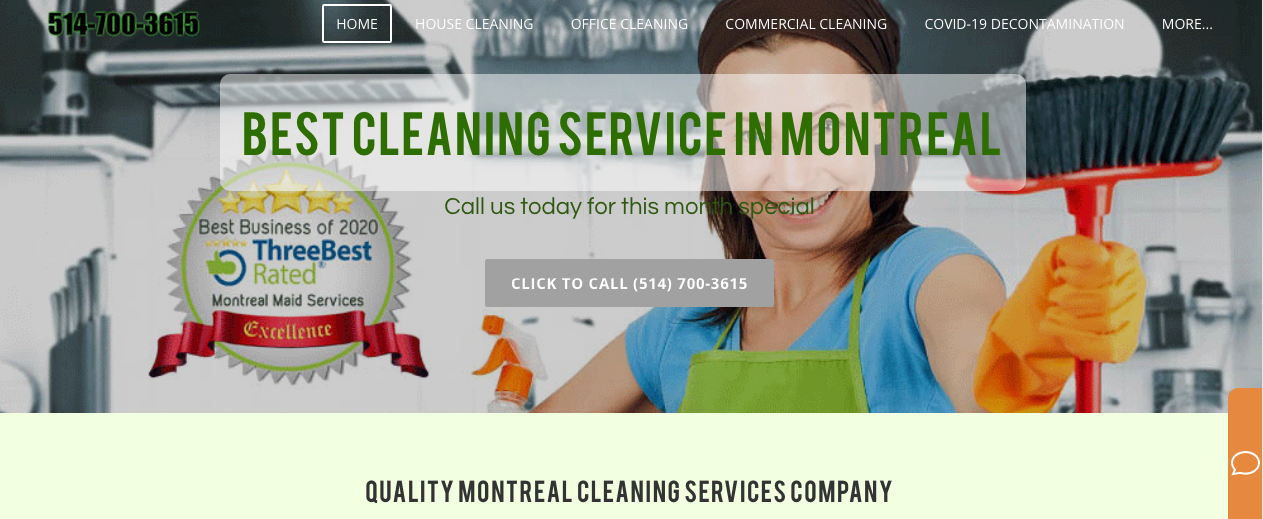cleaning service in montreal