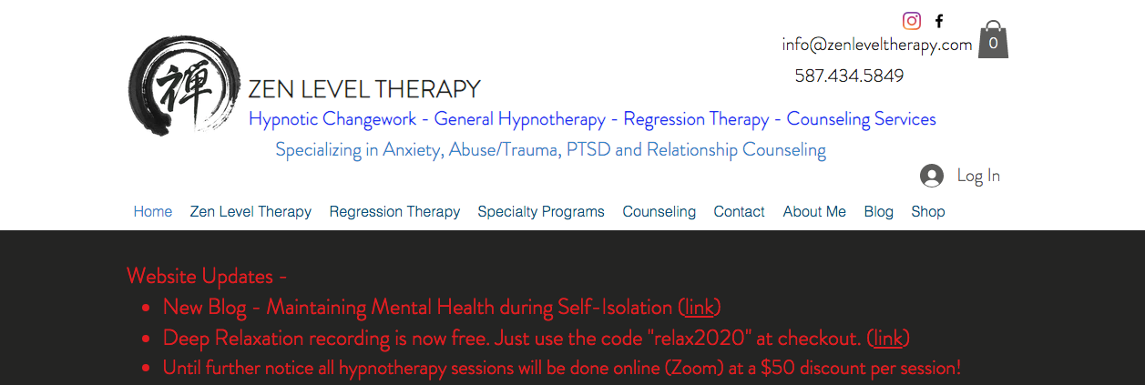 hypnotheraphy places in calgary