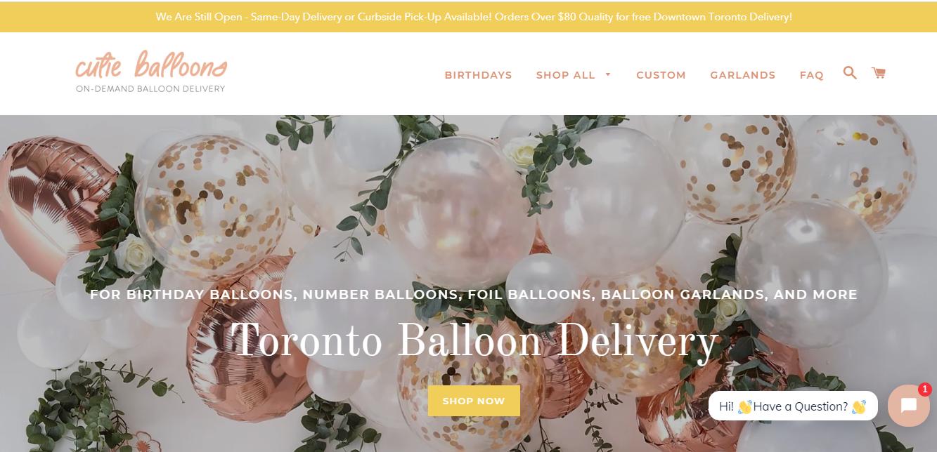 Cutie Balloons Toronto
