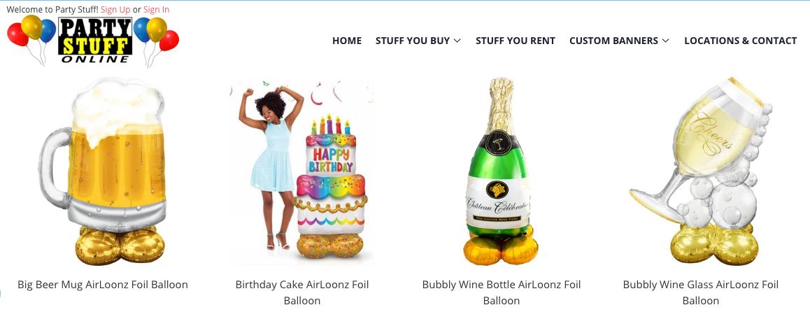 balloons store winnipeg
