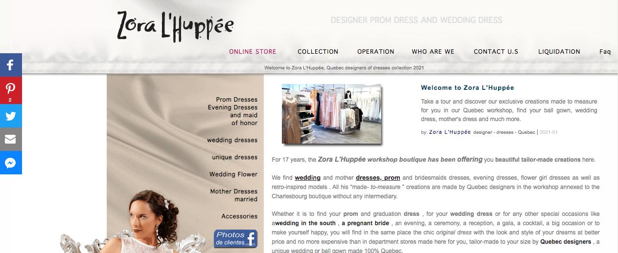 dress shops quebec