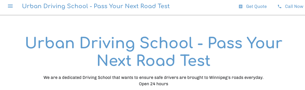 top driving schools in winnipegg