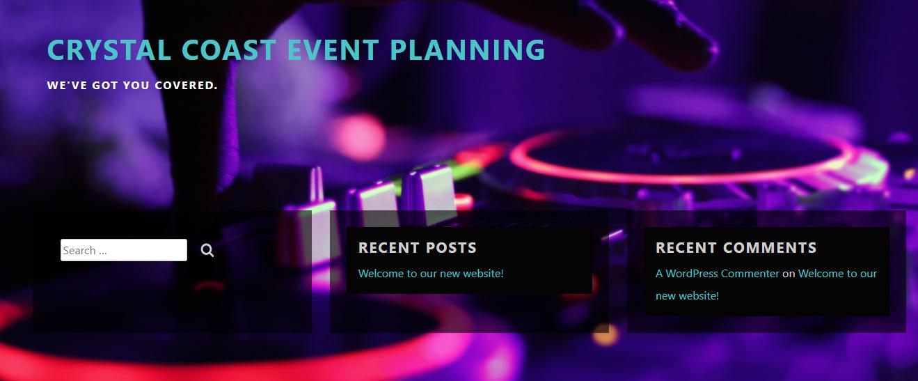 Crystal Coast Event Planning