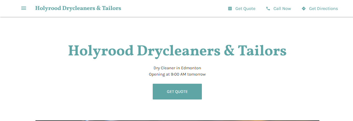 Holyrood Drycleaners & Tailors