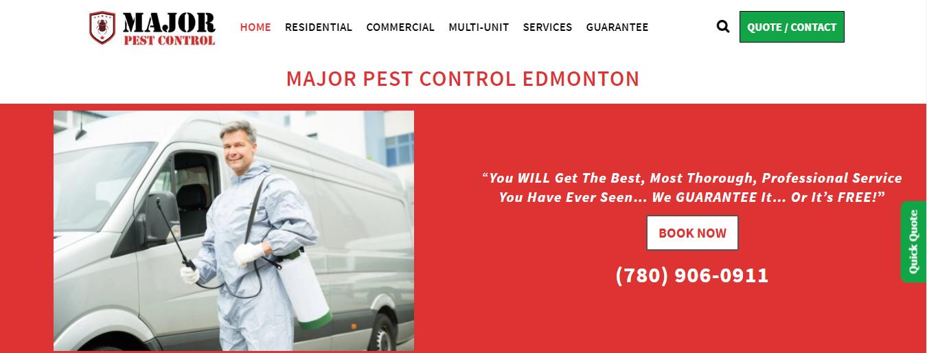 Major Pest Control Edmonton