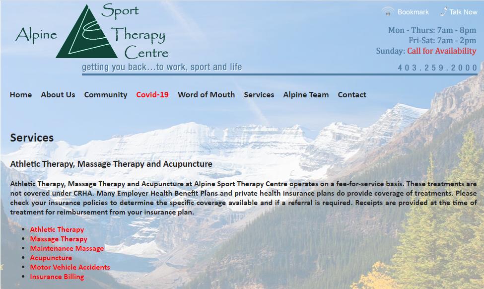 Alpine Sport Therapy Centre