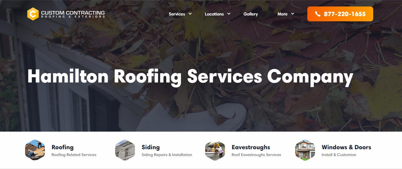 Custom Contracting Roofing Hamilton