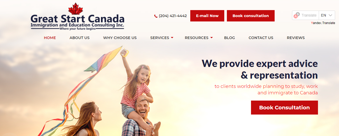 Great Start Canada Immigration & Education Consulting Inc.