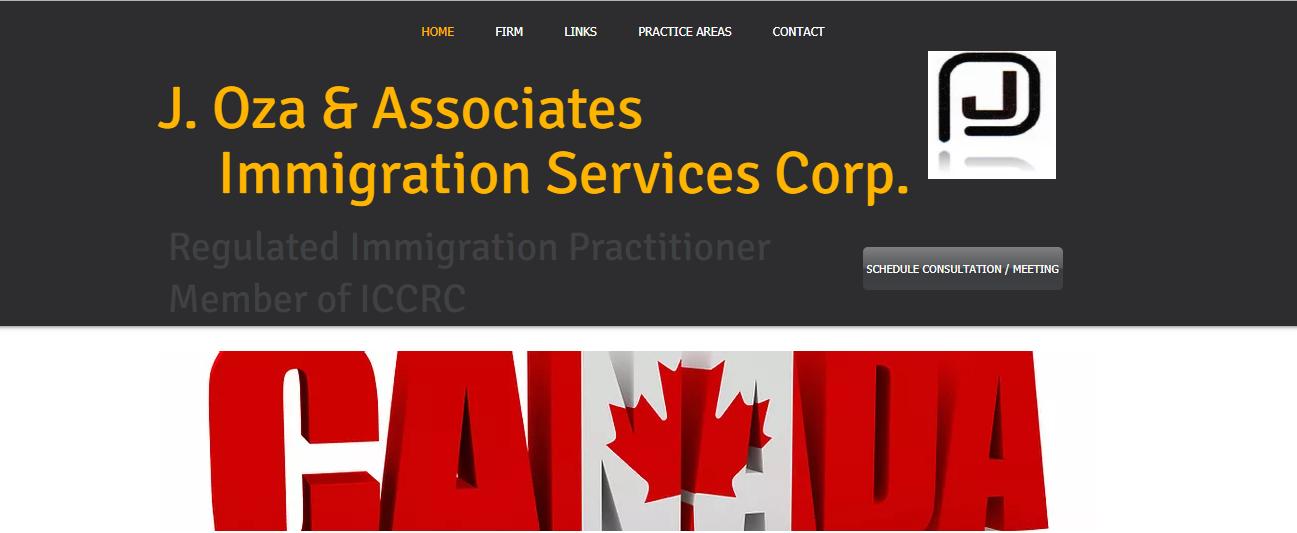 J. Oza & Associates Immigration Services Corporation.