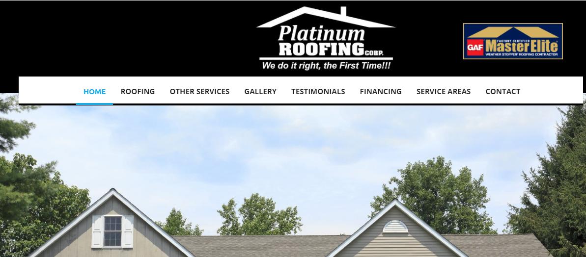 Platinum Roofing Corp.